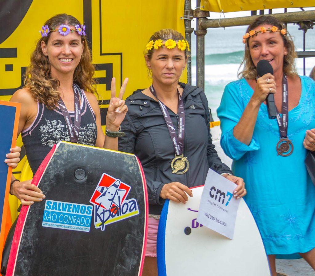 Pódio da categoria Feminino, com Soraia Rocha, Renata Cavalleiro e Isabela Nogueira.