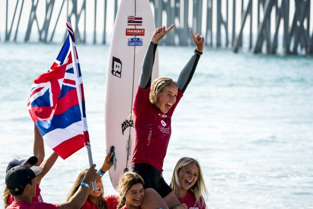 Gabriela Bryan, Vissla World Junior Championship 2019, Huntington Beach, Califórnia (EUA). Foto: ISA / Ben Reed.