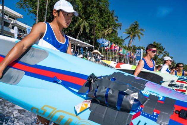 Yoshihiro Yamao, ISA SUP & Paddleboard 2019, El Sunzal, El Salvador. Foto: ISA / Evans.