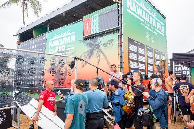 Kelly Slater, Hawaiian Pro 2019, Haleiwa, North Shore de Oahu, Havaí. Foto: WSL / Keoki.