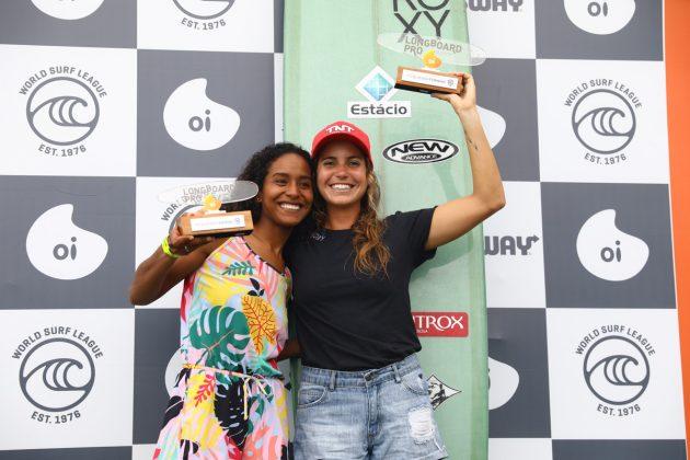 Maria Fernandes e Chloé Calmon, Oi Longboard Pro 2019, Maresias, São Sebastião (SP). Foto: @WSL / Daniel Smorigo.