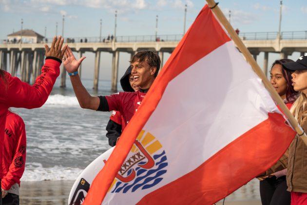 Kauli Vaast, Vissla World Junior Championship 2019, Huntington Beach, Califórnia (EUA). Foto: ISA / Sean Evans.