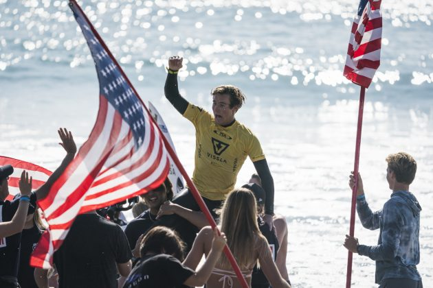 Dimitri Poulos, Vissla World Junior Championship 2019, Huntington Beach, Califórnia (EUA). Foto: ISA / Ben Reed.