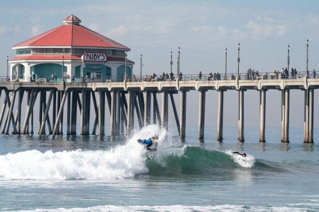 Dimitri Poulos, Vissla World Junior Championship 2019, Huntington Beach, Califórnia (EUA). Foto: ISA / Sean Evans.