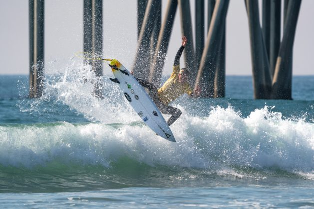 Dimitri Poulos, Vissla World Junior Championship 2019, Huntington Beach, Califórnia (EUA). Foto: ISA / Sean Evans.