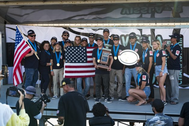 Equipe norte-americana, Vissla World Junior Championship 2019, Huntington Beach, Califórnia (EUA). Foto: ISA / Ben Reed.