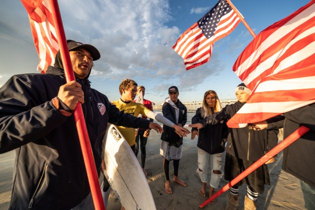 Taj Lindblad, Vissla World Junior Championship 2019, Huntington Beach, Califórnia (EUA). Foto: ISA / Sean Evans.