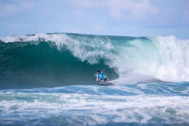 Ian Gouveia, North Shore de Oahu, Havaí. Foto: WSL / Heff.