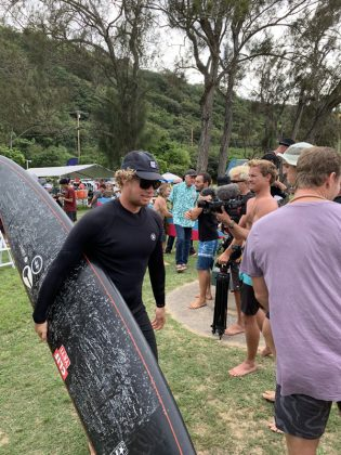 John John Florence, The Eddie Aikau Invitational 2019, Waimea Bay, North Shore de Oahu, Havaí. Foto: Fernando Iesca.
