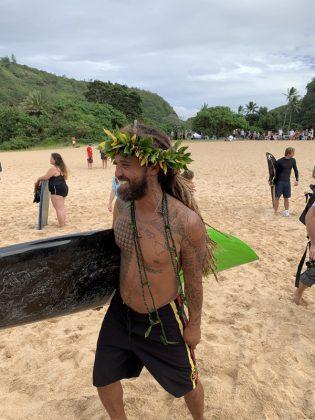 Kealii Mamala, The Eddie Aikau Invitational 2019, Waimea Bay, North Shore de Oahu, Havaí. Foto: Fernando Iesca.