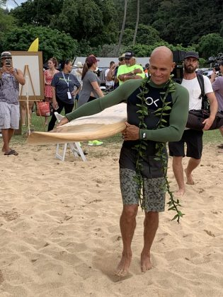 Kelly Slater, The Eddie Aikau Invitational 2019, Waimea Bay, North Shore de Oahu, Havaí. Foto: Fernando Iesca.