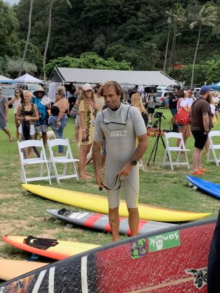 Nathan Fletcher, The Eddie Aikau Invitational 2019, Waimea Bay, North Shore de Oahu, Havaí. Foto: Fernando Iesca.