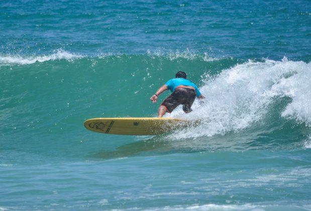 Sérgio Schuindt Filho, o campeão no Longboard, Grumari (RJ). Foto: 7 AM Fotos.
