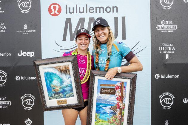Tyler Wright e Stephanie Gilmore, Maui Pro 2019, Honolua Bay, Havaí. Foto: WSL / Cestari.