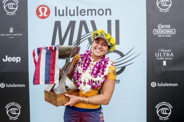 Carissa Moore, Maui Pro 2019, Honolua Bay, Havaí. Foto: WSL / Cestari.