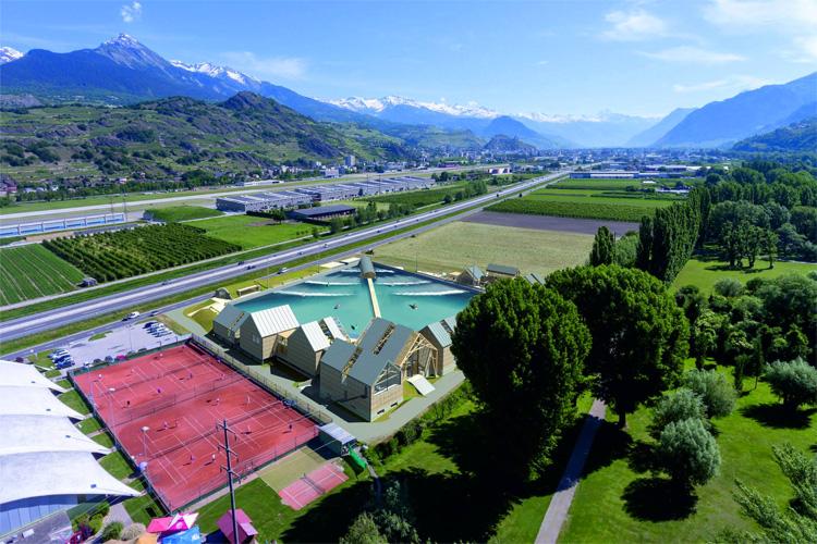 Projeto da Wavegarden no coração dos Alpes Suíços: local deve ser aberto ao público em 2021.