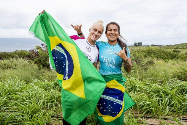 Tatiana Weston-Webb e Silvana Lima, Maui Pro 2019, Honolua Bay, Havaí. Foto: WSL / Cestari.