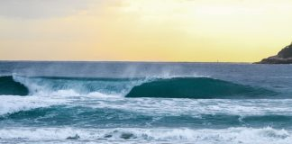 Surfista tenta a sorte