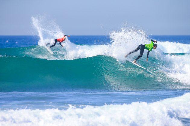 Andy Criere (ESP) e Nat Young (EUA), Pro Taghazout Bay, Marrocos. Foto: WSL / Masurel.