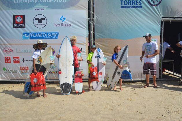 Pódio Iniciantes, Guarita Eco Festival 2020, Torres (RS). Foto: Torrica Photo Surf Club.