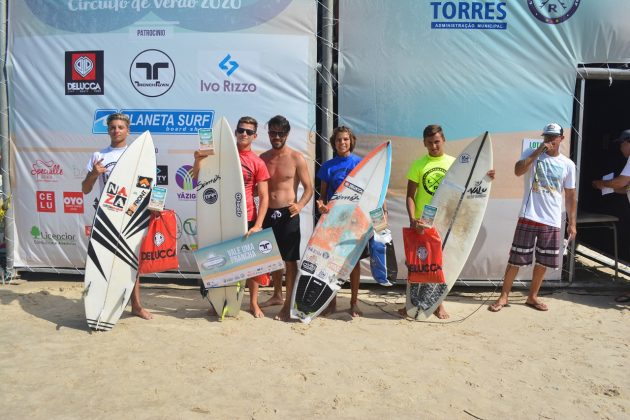 Pódio Júnior, Guarita Eco Festival 2020, Torres (RS). Foto: Torrica Photo Surf Club.