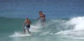 Onda repartida no Havaí
