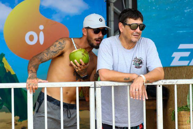Filipe Toledo e Pinga, Oi Hang Loose Pro Contest 2020, Cacimba do Padre, Fernando de Noronha (PE). Foto: WSL / Daniel Smorigo.