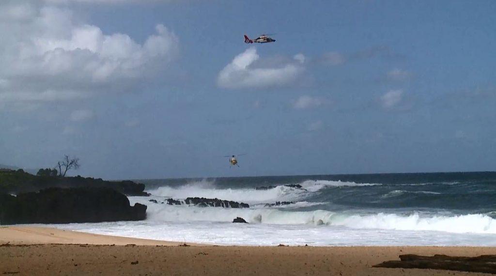Helicópteros buscam por jovem desaparecida em Waimea.