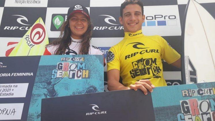 Sophia Medina e Caio Costa, Rip Curl Grom Search 2020, Barra da Tijuca, Rio de Janeiro (RJ). Foto: Pedro Monteiro.