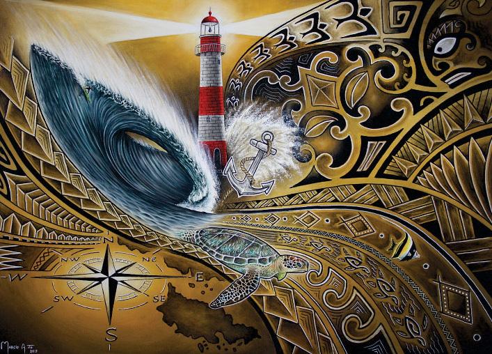 Tatuador e artista plástico há mais de 30 anos, Marcio Ito promove a exposição Oceano em Movimento.