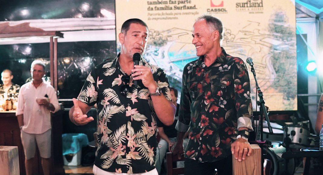 André Giesta e Ricardo Bocão, Praia do Silveira, Garopaba (SC). Foto: Divulgação.