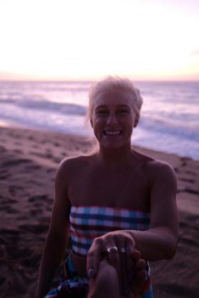Jessé Mendes e Tati Weston-Webb, Kauai, Havaí. Foto: Arquivo pessoal.
