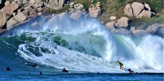 Swell bomba na Vila