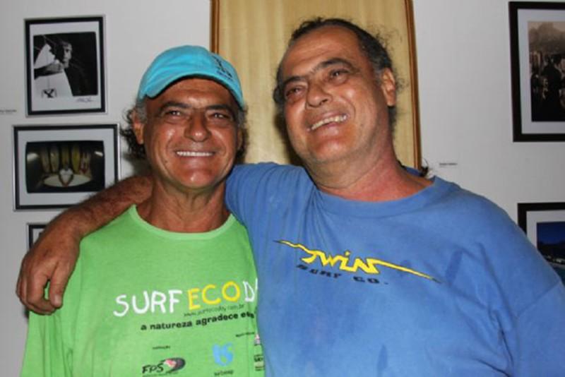 Carlos e Eduardo Argento ajudaram a fomentar o surfe no litoral paulista.