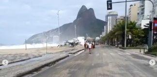 Mar em fúria no Rio