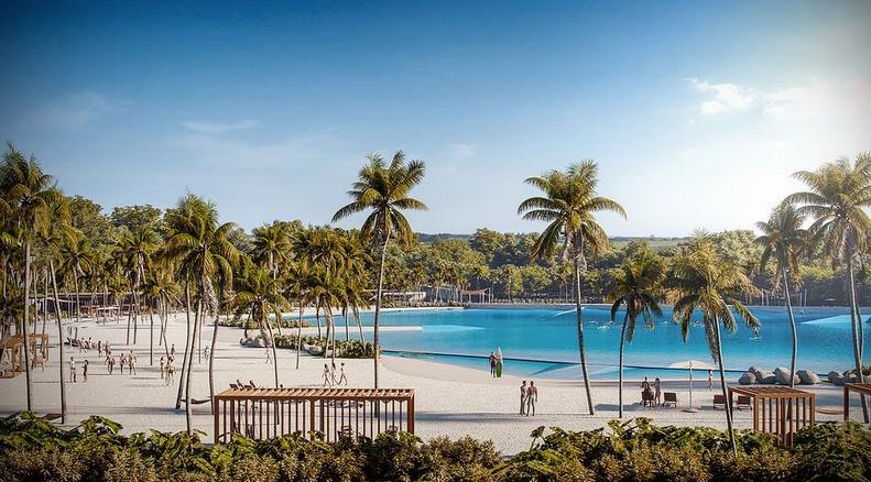 Praia da Grama contará com a tecnologia mais moderna da Wavegarden.