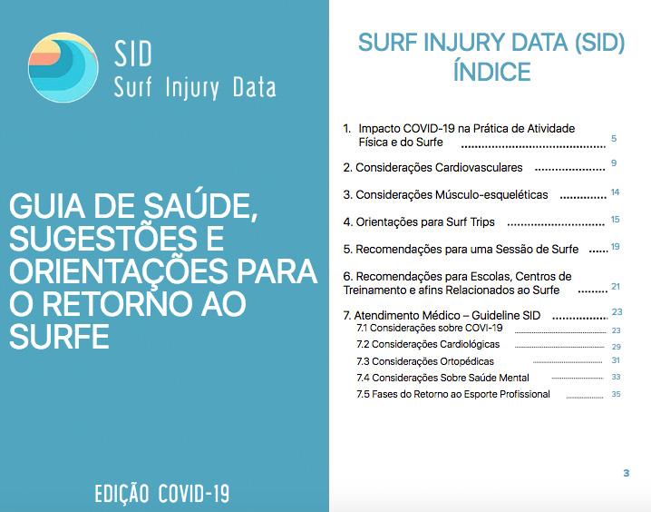 Equipe do SID desenvolve guia completo com orientações para o retorno ao surfe.