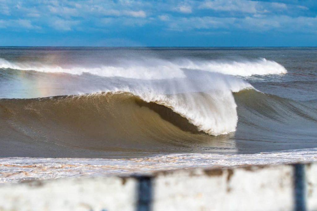 Visual de Atlântida, um dos principais picos do surfe gaúcho.