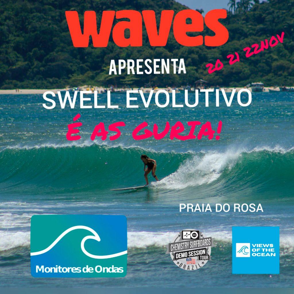 Cartaz do evento Swell Evolutivo É As Guria!