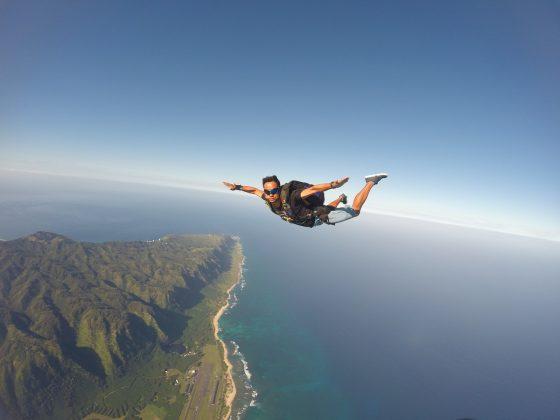 David Nagamini, Havaí. Foto: Arquivo pessoal.