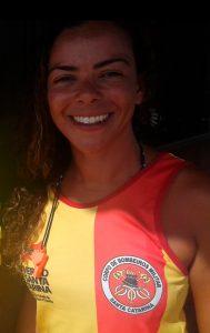 Camille trabalhou por seis temporadascomo salva-vidas em Itajaí e Portugal.