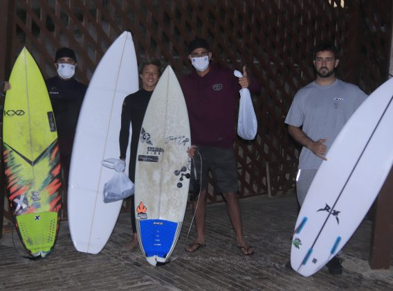 Pódio Local, Kids Like Surfing 2020, Joaquina, Florianópolis (SC). Foto: Basilio Ruy/P.P07.