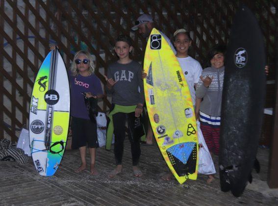 Pódio Sub 10, Kids Like Surfing 2020, Joaquina, Florianópolis (SC). Foto: Basilio Ruy/P.P07.