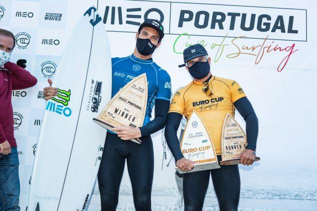 Frederico Morais e Italo Ferreira, MEO Portugal Cup 2020, Ribeira d'Ilhas, Ericeira. Foto: WSL / Poullenot.
