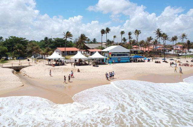 Estrutura do Maresia Pro Taíba, Praia da Taíba, São Gonçalo do Amarante (CE). Foto: Lima Jr.