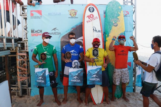 Pódio Longboard, Circuito Cearense 2020, Praia da Taíba (CE). Foto: Lima Jr.