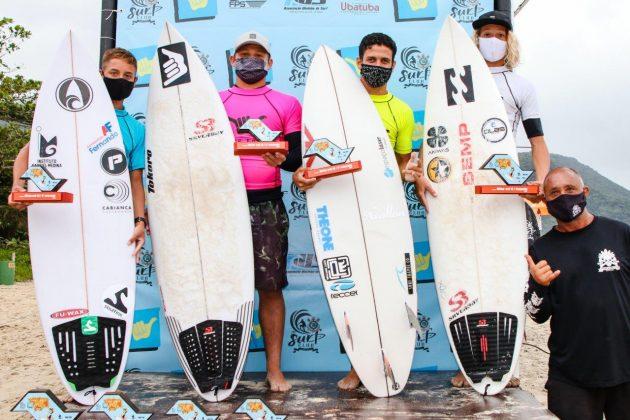 Pódio Sub 16, Hang Loose Surf Attack 2020, Itamambuca, Ubatuba (SP). Foto: Daniel Smorigo.