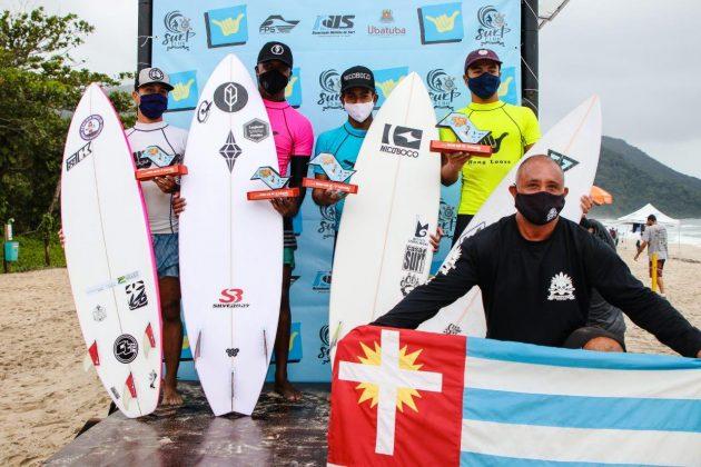 Pódio Sub 18, Hang Loose Surf Attack 2020, Itamambuca, Ubatuba (SP). Foto: Daniel Smorigo.