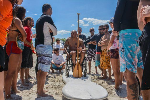Robson Careca na edição de 2019, Curso de Formação e Atualização de Instrutores de Surf e SUP. Foto: Giovanna Lima.