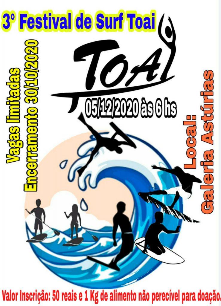 Cartaz do 3° Festival de Surf Toai.